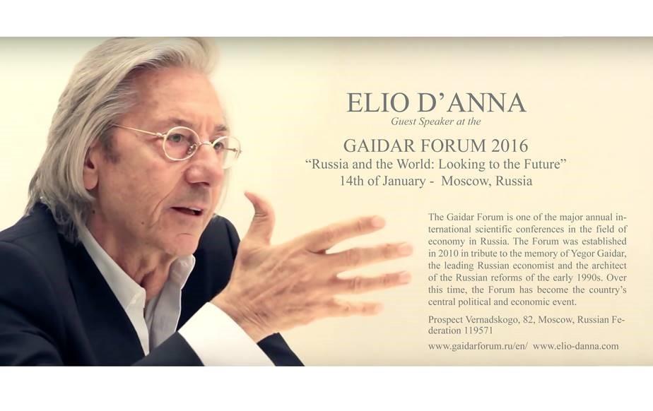 President Elio D'Anna @gaidarforum Mosca